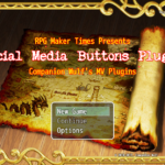 Social Media Buttons Plugin | RMMV Plugins | RPG Maker Times