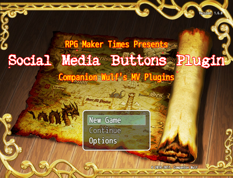Social Media Buttons/In-Game Website Plugin (RMMV)