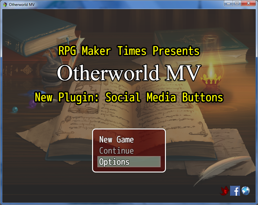 New Plugin: Social Media Buttons/In-Game Website (RMMV